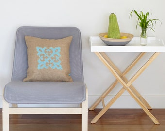 Needlepoint pattern MARRAKESH boho,moroccan,handmade,burlap pillow,needlepoint,cross stitch,embroidery,anette eriksson,diy,pattern,turquoise