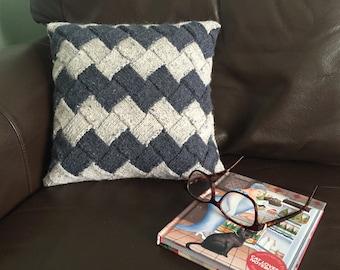 Entrelac Essentials Cushion PDF knitting pattern