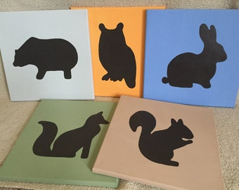 Woodland Critter Silhouette