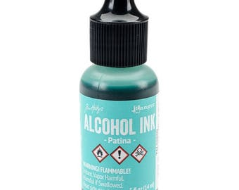 Tim Holtz Alcohol ink, Patina, blue-green alcohol ink