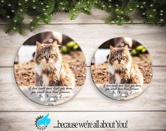 Customized Christmas ornament Cat Memorial Ornament , Customized Christmas Ornament, Send Your Own Photo!