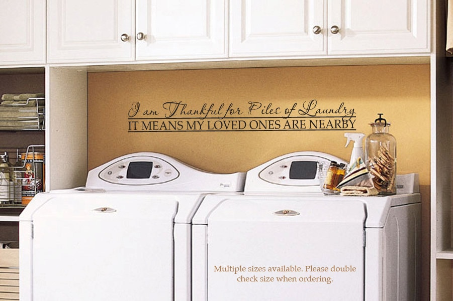 Laundry Room Vinyl Amazing Laundry Room Decal Wall Decor Vinyl Decal Wall Art 034 Decorating Design