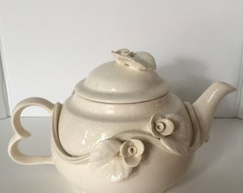 Vintage Rose Teapot and Cup
