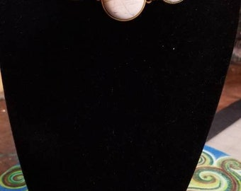 "14"" Adjustable Howlite cabochons Choker necklace"