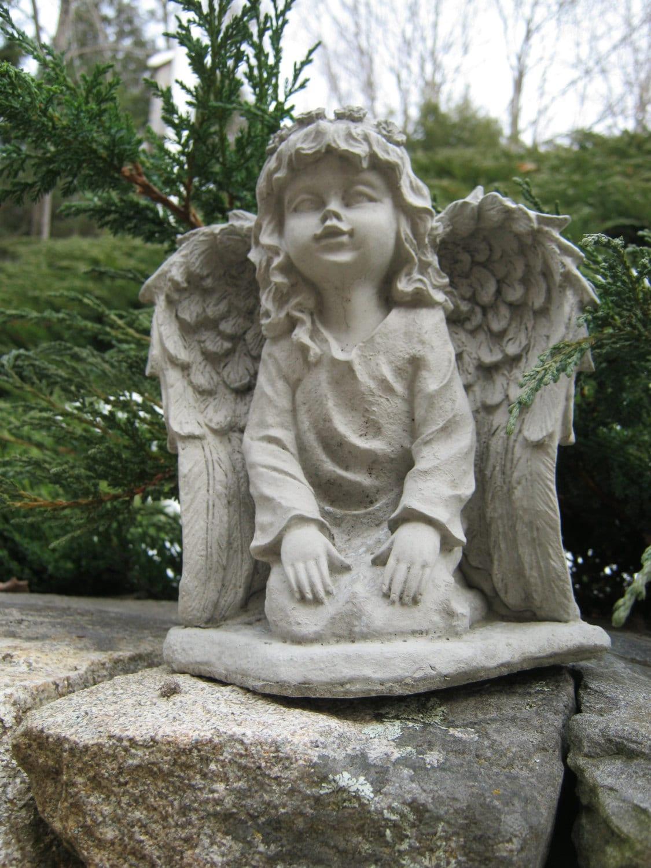 angel statue angel girl concrete garden statue concrete. Black Bedroom Furniture Sets. Home Design Ideas