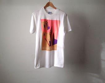 vintage new mexico 90s SOUTHWEST santa fe GEORGIA O'keeffe style adobe house new mexico t-shirt