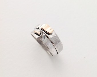 Wide sterling silver ring, sterling silver ring band, silver band