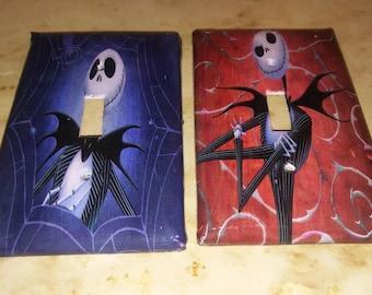 handmade Nightmare Before Christmas lightswitch covers