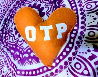OTP Letter Heart Felt Plush