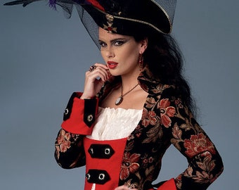 Pirate Wench Steampunk Costume - Butterick 6114 Sewing Pattern - US Size: 6 -8 -10 -12 -14  or14 - 16 - 18 - 20 - 22
