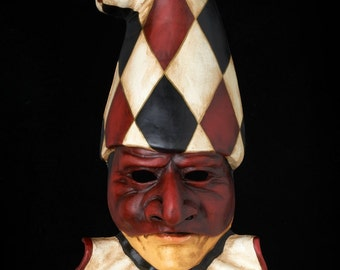 Venetian Mask | Pulcinella Red and Black