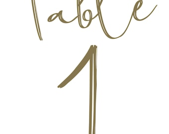 Table Numbers | Digital | Gold