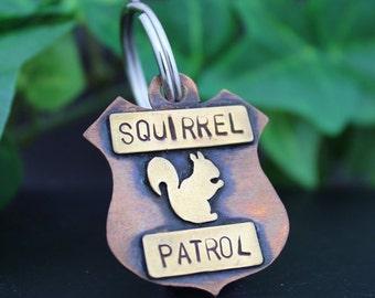 Squirrel Patrol Dog Tag, Personalized Dog Tag, Custom Dog Tags, Dog Tags For Dogs, Dog ID Tag, Pet ID Tag, Custom Dog Tag, Dog Name Tags