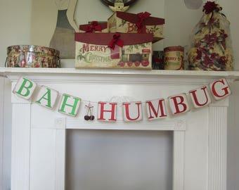 """Christmas Banner """"Bah Humbug"""" Banner"""