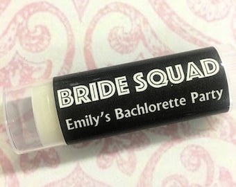 Bachelorette Party Favors, Bachelorette Party, Bachelorette Lip Balm, Bride Squad Favors, Personalized Bachelorette Party Gift, Bride Squad