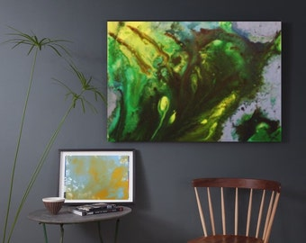 "Original acrylic ""wonderment"" large size wall painting"