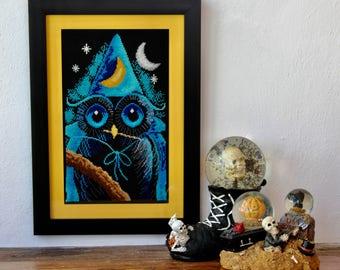 Cross stitch: Sorcerer OWL