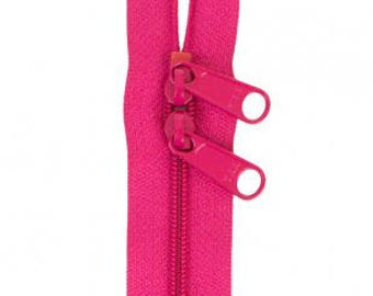 """30"""" Double Slide Handbag Zipper by Annie - Great for Bags - LIPSTICK"""