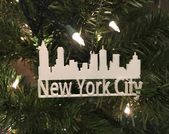 New York City Skyline Tree Ornament 3D-Printed