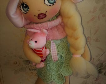 textile doll - rag doll - toys -Easter