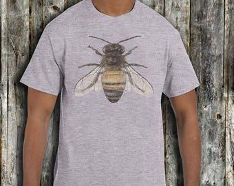 Men's Honey Bee T shirt - Fathers day T shirt Gift - xs, small, medium, large, xl, 2xl Bumble Bee honey Bee t shirt