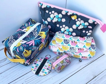 Sloth Pouches & Bags-Several Styles to Choose From-Cute, Colorful and Great for Travel/Organization--Charger Pouch, Earbud Pouch...