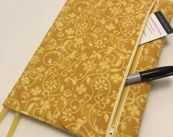 Composition Notebook Cover, Golden Floral