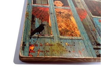 """Frida Kahlo quote - """"Feet, what do I need you for when I have wings to fly?"""" - Frida Kahlo - wall art - wood"""