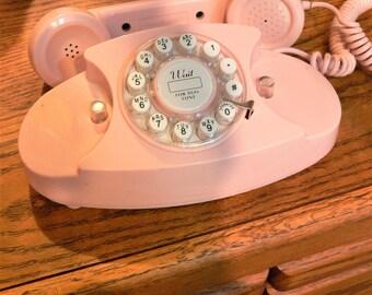 pink color  mid century decor. phone