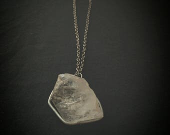 Crystal Quartz Pendant with chain