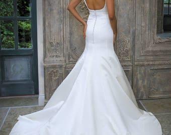 Grace Philips Original- Joni. Ivory Satin Wedding Gown.