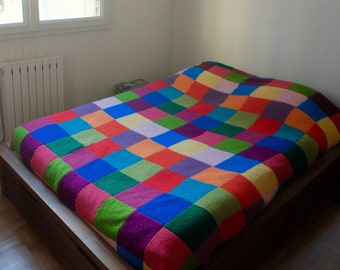 Blankets, bed and sofa tile fully Handmade wool hands