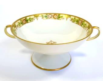 Nippon Porcelain Pedestal Bowl