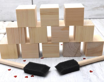 Wooden Blocks. Great for: Baby Shower Crafts; Craft Party; Childrens Blocks; Nursery Décor; Baby Décor; Baby Shower Gift; New Baby. Top up