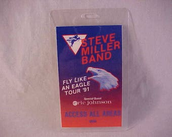 Steve Miller Band Laminated OTTO Backstage Pass - 1991 Fly Like An Eagle Tour - Music Memorabilia