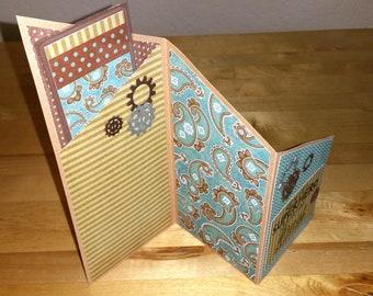 Handmade, Card, Men, Man, Husband, Boyfriend, Brother, Uncle, Birthday, Congratulations, Retirement, Get Well, Love, Bookmark
