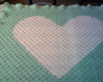 Sweet Heart Baby Blanket