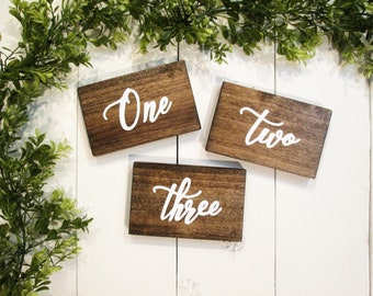 Wood table numbers, wedding table numbers, rustic table numbers, centerpiece numbers, rustic wedding, wooden number, wedding number, custom