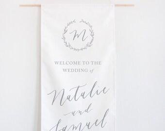 Calligraphy Wedding Welcome Banner