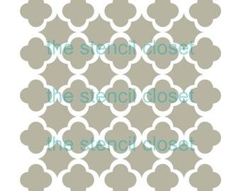 6x6 Quatrefoil Trellis stencil