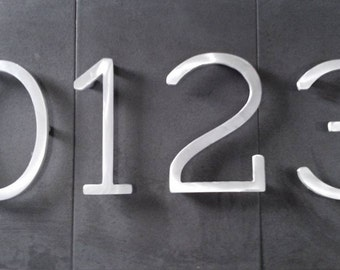 Modern house numbers (set of 2) aluminum, metal, modern font, address numbers