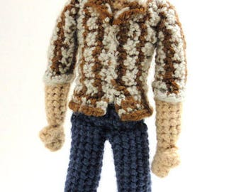 Sam Winchester (Supernatural) - Handmade crochet original design doll