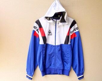 Vintage 90s le coq sportif hoodie jacket lecoq jacket
