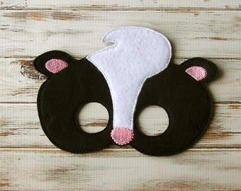 Skunk Mask - Woodland, Animal Mask - Costume, Dress Up, Halloween, Pretend Play, Kids Mask