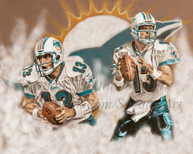 "Dan Marino ""Dolphins Legend"" open edition art print- 16x20 inches"