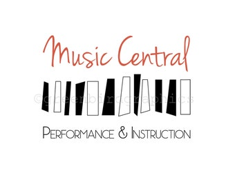 Music Logo, Piano Lesson Logo, Musician Logo, Customizable Premade Logo Design