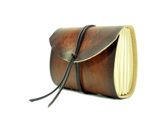 Leather book  - soft OX RAW - Coco - A5 - 400 pages - diary of Vickys World®