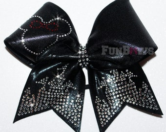 Gorgeous Rhinestone Mickey Minnie Castle Cheer Bow by FunBows !
