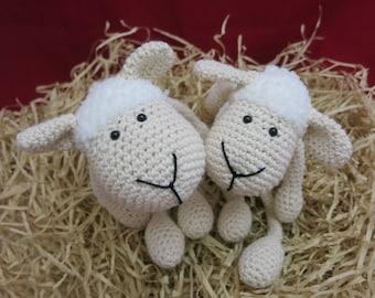 Sheep, White Sheep, Crochet Sheep, Amigurumi Sheep, Baby Shower Gift, Shelf Deco Sheep, Animal toy, Cute Sheep, Plush Stuffed Sheep, Kawaii