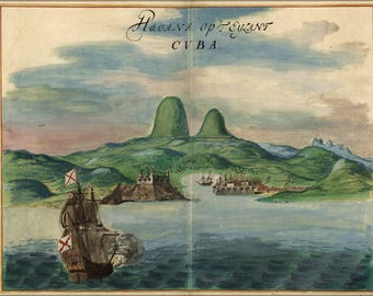 Poster, Many Sizes Available; View Of The Port Of Havana Cuba 1639